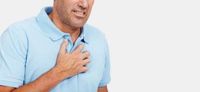 احساس سوزش در قفسهسینه (سوزش سردل)، گاهی به گلو پخش میشود و به شکل مزهای ترش در دهان حس میشود