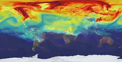 نقشه های ترسیم شده آب و هوایی در دانشگاه برکلی؛ با اندازه گیری ِ دما، رطوبت و باد، پیش بینی می کند که گرم شدن کره زمین و تغییر پوشش گیاهی آن، موجب جابجایی جغرافیایی ِ حشرات ناقل و حیواناتی شود که منبع بیماری ها هستند.